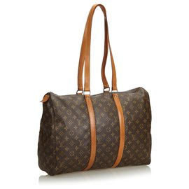 Louis Vuitton-Louis Vuitton Brown Monogram Sac Flanerie 45-Marron