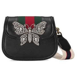 Gucci-Gucci Black Small Web Embellised Totem-Black