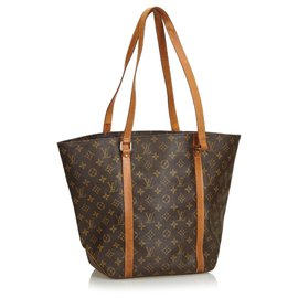 Louis Vuitton-Louis Vuitton Brown Monogram Sac Shopping 48-Marron
