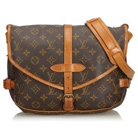 Louis Vuitton-Louis Vuitton Brown Monogram Saumur 30-Brown