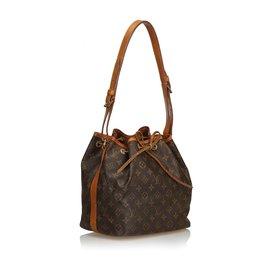 Louis Vuitton-Louis Vuitton Brown Monogram Petit Noe-Brown