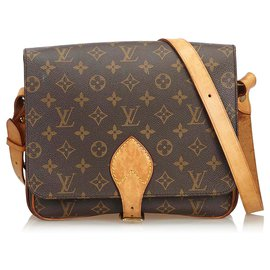 Louis Vuitton-Louis Vuitton Brown Monogram Cartouchiere GM-Brown