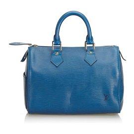 Louis Vuitton-Louis Vuitton Blue Epi Speedy 25-Blue