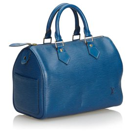 Louis Vuitton-Louis Vuitton Blue Epi Speedy 25-Bleu