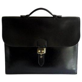 Hermès-PORTE-DOCUMENTS HOMME - SAC A DEPECHES - VINTAGE-Noir