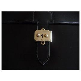 Hermès-DOCUMENT HOLDER MEN - BAG WITH DEPECHES - VINTAGE-Black