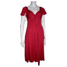 Temperley London-Robe en soie-Rouge