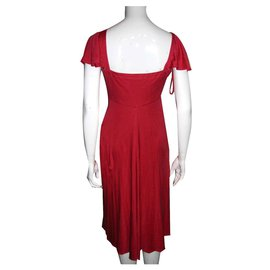 Temperley London-Silk dress-Red