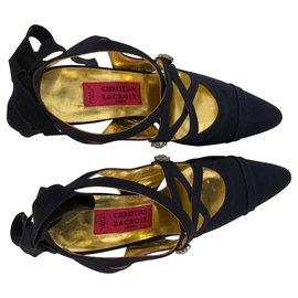 Christian Lacroix-Heels-Navy blue