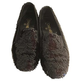Chanel-Beautiful English style espadrille-Black