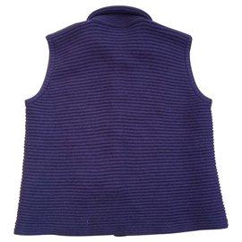 Eric Bompard-Sleeveless cashmere vest 6 Threads-Chocolate