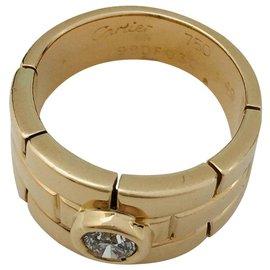 """Cartier-Bague vintage Cartier ,""""Panthère"""", en or jaune et diamant.-Autre"""
