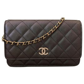 Chanel-Timeless Wallet on Chain-Black