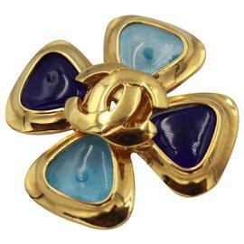 Chanel-Broches et broches-Bleu