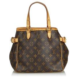 Louis Vuitton-Louis Vuitton Brown Monogram Batignolles Vertical-Marron