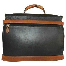Balenciaga-Porte-documents en cuir Balenciaga-Marron
