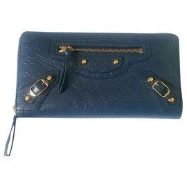 Balenciaga-portefeuilles-Bleu