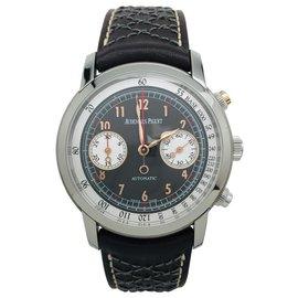 "Audemars Piguet-Audemars Piguet watch, ""Gstaad Classic"", titanium on leather.-Other"