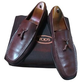 Tod's-moccasins with bells-Chocolate