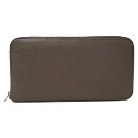Hermès-Hermes Gray SilkIn Azap Wallet-Grey