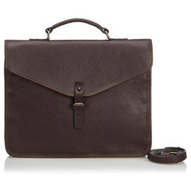 Mulberry-Mulberry Black Leather Business Bag-Black