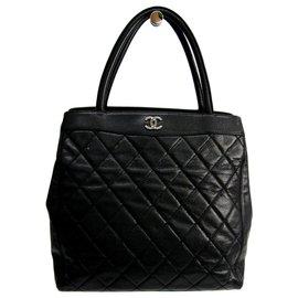 Chanel-Chanel Black Caviar Tote-Black
