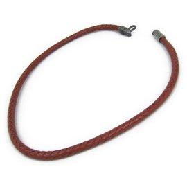 Hermès-Hermes Brown Leather Choker-Brown,Dark brown