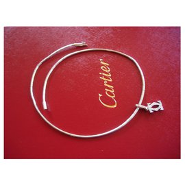 Cartier-Cartier necklace and necklace in white gold and diamonds-Silvery