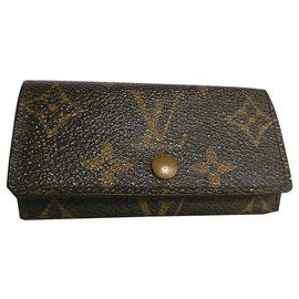 Louis Vuitton-Portefeuille Louis Vuitton Multicles Key-Marron,Multicolore