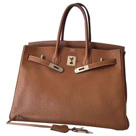 Hermès-Hermès Birkin 35-Caramel