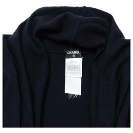 Chanel-NAVY CASHMERE FR42-Navy blue