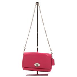 Coach-Handbag-Fuschia