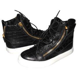 0b8ab580fbaf Giuseppe Zanotti-Giuseppe Zanotti sneakers Kriss black leather  alligator-Black ...
