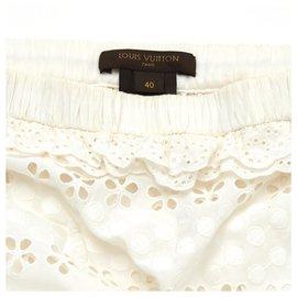 Louis Vuitton-BUSTIER DENTELLE FR40-Blanc