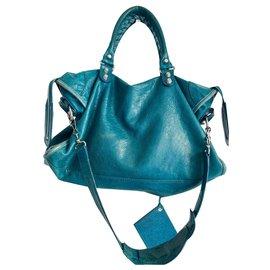 Balenciaga-Sacs à main-Turquoise