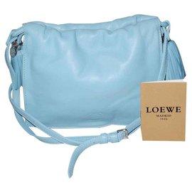 Loewe-Loewe sac Flamenco en cuir bleu ciel neuf superbe-Bleu clair
