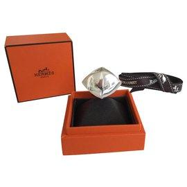 Hermès-Collier de Chien Rock-Argenté