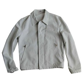 Hermès-HERMES cotton jacket-Cream