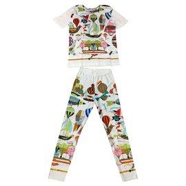 Hermès-Pants, leggings-White