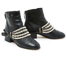 Chanel-BLACK PEARLS CHAINS FR39-Noir