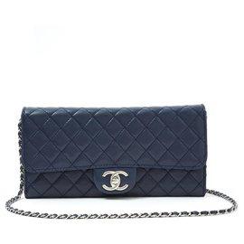 Chanel-WALLET ON CHAIN WOC NAVY SILVER-Bleu Marine
