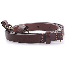 Burberry-Burberry Brown Leather Belt-Brown,Dark brown