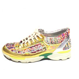 Chanel-Chanel Multi Tweed Holographic Sneakers-Multiple colors