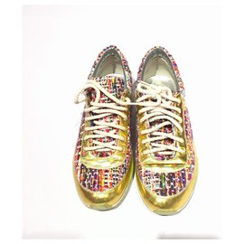 Chanel-Baskets Holographiques Multi Tweed Chanel-Multicolore