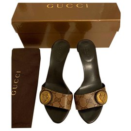 Gucci-Sandales-Marron