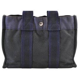 Hermès-Hermès Fourre Tout-Blue