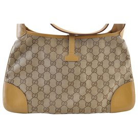 Gucci-Sac à main Gucci Sherry Line GG-Marron