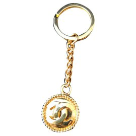 Chanel-Superb Chanel bag jewel keychain-Golden