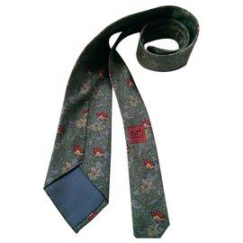 Hermès-Krawatten-Grün