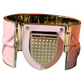 Dior-Bracelet manchette Dior Diorama-Argenté,Rose